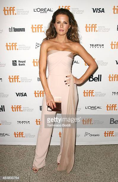 Actress Kate Beckinsale attends 'The Face Of An Angel' premiere during the 2014 Toronto International Film Festival at Winter Garden Theatre on...