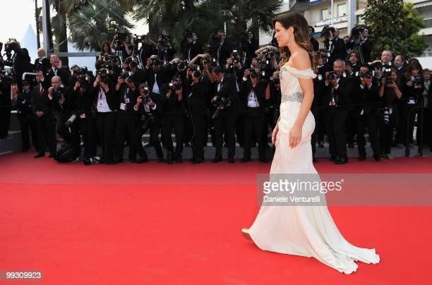 Actress Kate Beckinsale attends the 'Il Gattopardo' premiere held at the Palais des Festivals during the 63rd Annual International Cannes Film...