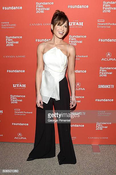Actress Kate Beckinsale attends the 'Love Friendship' Premiere during the 2016 Sundance Film Festival at Eccles Center Theatre on January 23 2016 in...