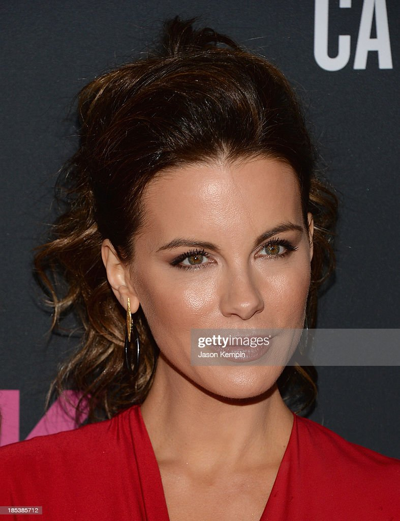 Actress Kate Beckinsale attends The Pink Party 2013 at Barker Hangar on October 19, 2013 in Santa Monica, California.
