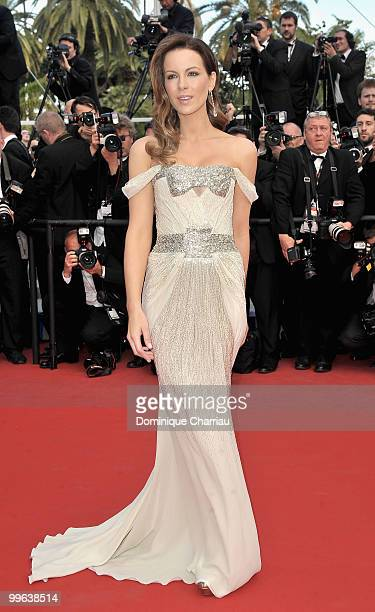 Actress Kate Beckinsale attends the Premiere of 'Wall Street Money Never Sleeps' held at the Palais des Festivals during the 63rd Annual...