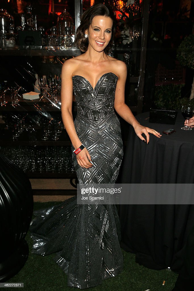 Actress <a gi-track='captionPersonalityLinkClicked' href=/galleries/search?phrase=Kate+Beckinsale&family=editorial&specificpeople=202911 ng-click='$event.stopPropagation()'>Kate Beckinsale</a> attends The Weinstein Company & Netflix's 2014 Golden Globes After Party presented by Bombardier, FIJI Water, Lexus, Laura Mercier, Marie Claire and Yucaipa Films at The Beverly Hilton Hotel on January 12, 2014 in Beverly Hills, California.