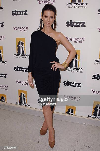 Actress Kate Beckinsale poses at the 13th Annual Hollywood Awards Gala Press Room at The Beverly Hilton Hotel on October 26 2009 in Beverly Hills...