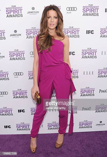 Actress Kate Beckinsale with Jameson prior to the 2012 Film Independent Spirit Awards at Santa Monica Pier on February 25 2012 in Santa Monica...