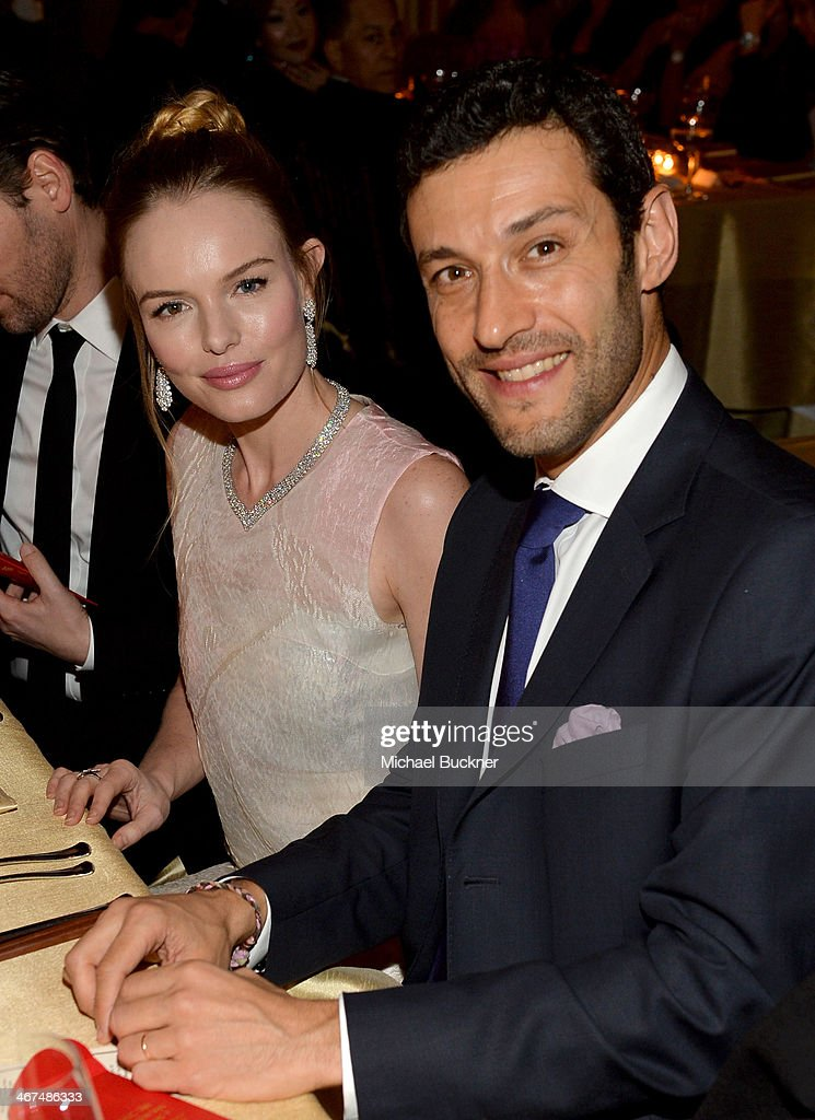 Actress <a gi-track='captionPersonalityLinkClicked' href=/galleries/search?phrase=Kate+Bosworth&family=editorial&specificpeople=201616 ng-click='$event.stopPropagation()'>Kate Bosworth</a> (L) and Alain Bernard, President and CEO of The Americas for Van Cleef & Arpels atten the celebration of Van Cleef & Arpels newly re-designed South Coast Plaza Boutique at Van Cleef & Arpels on February 6, 2014 in Orange County, California.