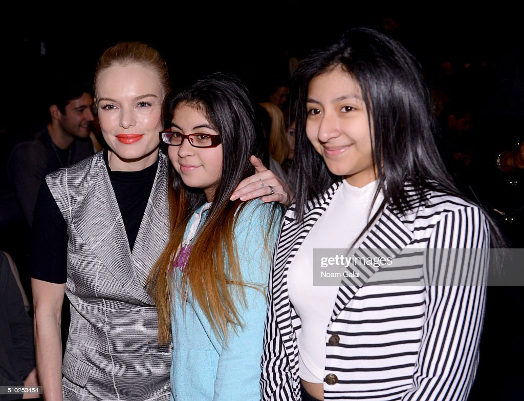 Actress <a gi-track='captionPersonalityLinkClicked' href=/galleries/search?phrase=Kate+Bosworth&family=editorial&specificpeople=201616 ng-click='$event.stopPropagation()'>Kate Bosworth</a> and guests (L) attend the Noon By Noor Fall 2016 fashion show during New York Fashion Week: The Shows at The Dock, Skylight at Moynihan Station on February 14, 2016 in New York City.