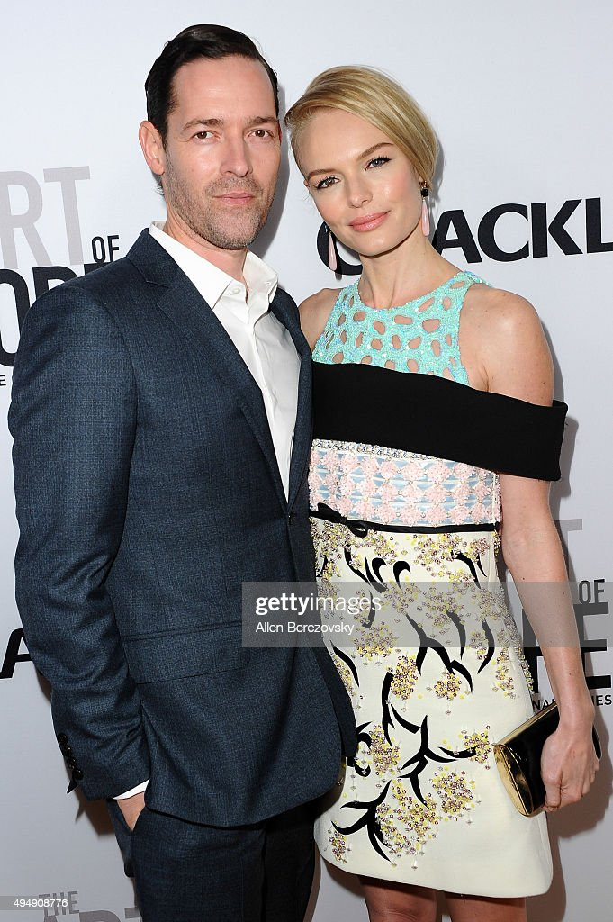 Actress Kate Bosworth (R) and husband Michael Polish attend the premiere of Crackle's 'The Art of More' at Sony Pictures Studios on October 29, 2015 in Culver City, California.