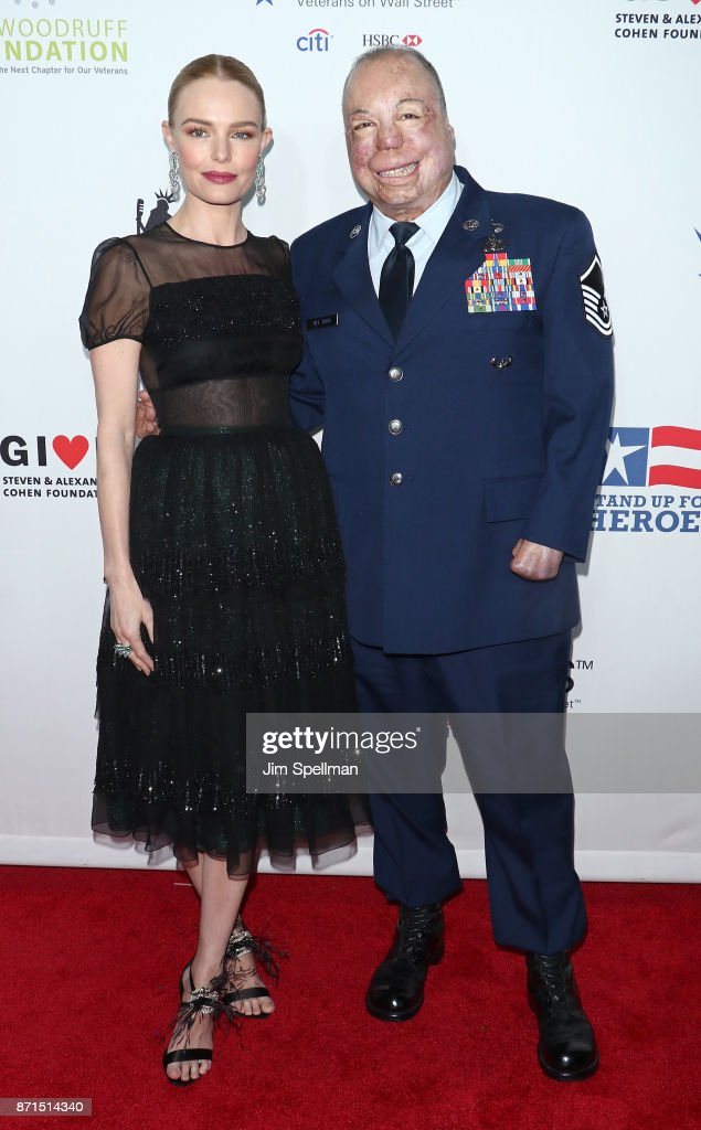 Actress Kate Bosworth and Master Sgt. Israel Del Toro attend the 11th Annual Stand Up for Heroes at The Theater at Madison Square Garden on November 7, 2017 in New York City.
