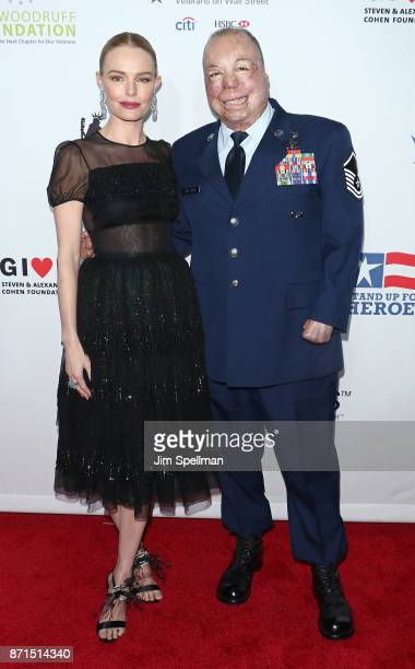Actress Kate Bosworth and Master Sgt Israel Del Toro attend the 11th Annual Stand Up for Heroes at The Theater at Madison Square Garden on November 7...