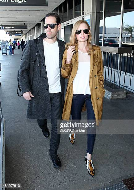 Actress Kate Bosworth and Michael Polish are seen on April 11 2014 in Los Angeles California