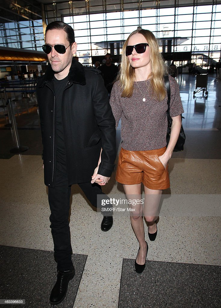 Actress Kate Bosworth and Michael Polish are seen on January 17, 2014 in Los Angeles, California.