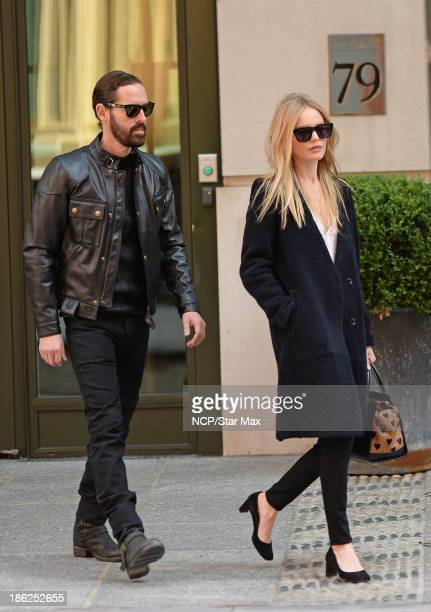 Actress Kate Bosworth and Michael Polish are seen on October 29 2013 in New York City