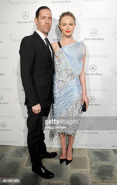 Actress Kate Bosworth and Michael Polish arrive at The Art of Elysium's 7th Annual HEAVEN Gala at the Guerin Pavilion at the Skirball Cultural Center...