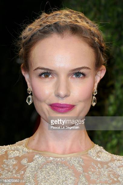Actress Kate Bosworth arrives at the 2013 Vanity Fair Oscar Party hosted by Graydon Carter at Sunset Tower on February 24 2013 in West Hollywood...