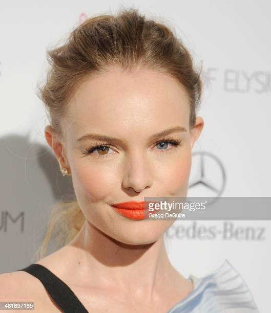 Actress Kate Bosworth arrives at The Art of Elysium's 7th Annual HEAVEN Gala at the Guerin Pavilion at the Skirball Cultural Center on January 11...