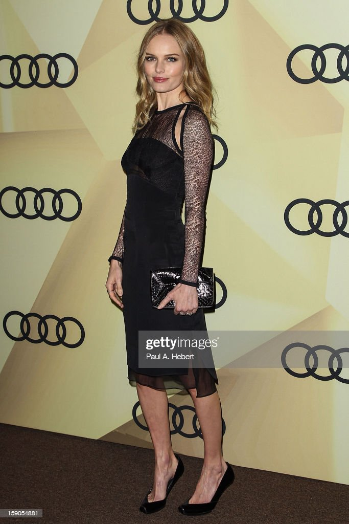 Actress <a gi-track='captionPersonalityLinkClicked' href=/galleries/search?phrase=Kate+Bosworth&family=editorial&specificpeople=201616 ng-click='$event.stopPropagation()'>Kate Bosworth</a> arrives at the Audi Golden Globe 2013 Kick Off Party at Cecconi's Restaurant on January 6, 2013 in Los Angeles, California.