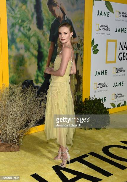Actress Kate Bosworth arrives at the premiere of National Geographic Documentary Films' 'Jane' at the Hollywood Bowl on October 9 2017 in Hollywood...