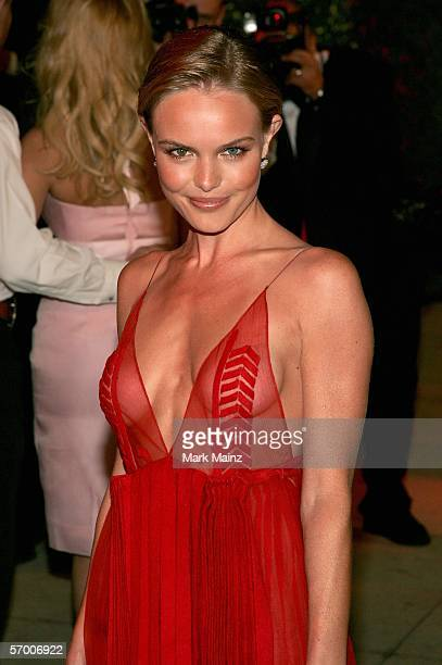 Actress Kate Bosworth arrives at the Vanity Fair Oscar Party at Mortons on March 5 2006 in West Hollywood California