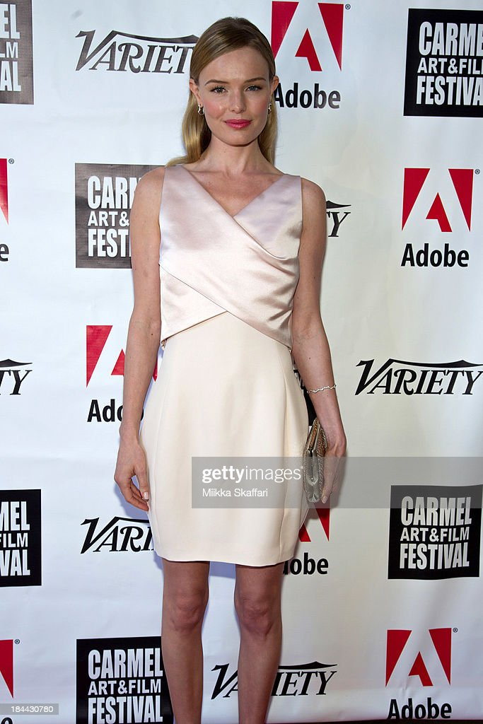 Actress <a gi-track='captionPersonalityLinkClicked' href=/galleries/search?phrase=Kate+Bosworth&family=editorial&specificpeople=201616 ng-click='$event.stopPropagation()'>Kate Bosworth</a> attend the 5th Annual Carmel Art & Film Festival at Sunset Cultural Arts Center on October 13, 2013 in Carmel, California.