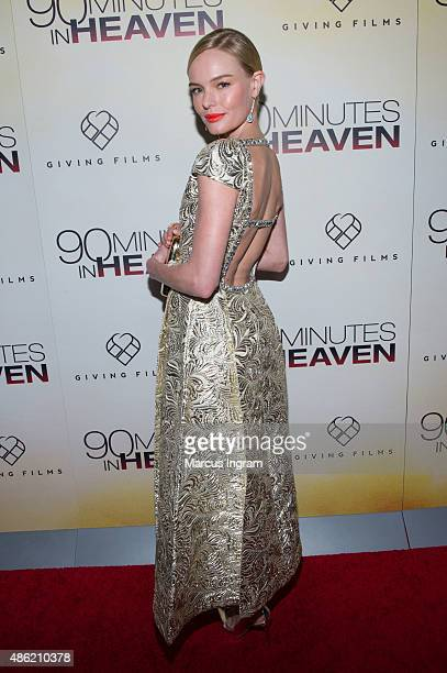 Actress Kate Bosworth attends '90 Minutes In Heaven' Atlanta premiere at Fox Theater on September 1 2015 in Atlanta Georgia