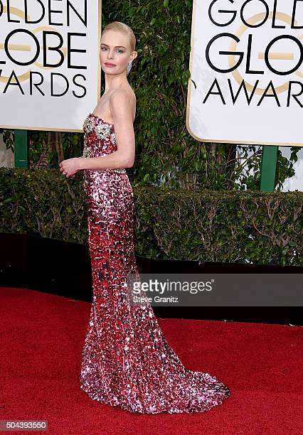 Actress Kate Bosworth attends the 73rd Annual Golden Globe Awards held at the Beverly Hilton Hotel on January 10 2016 in Beverly Hills California
