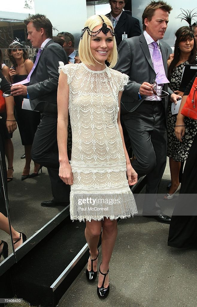 Actress Kate Bosworth attends the AAMI Victoria Derby Day part of the four day Melbourne Cup Carnival at Flemington Race Course on November 4 2006 in...