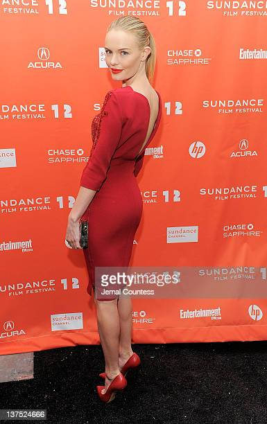 Actress Kate Bosworth attends the 'Black Rock' premiere during the 2012 Sundance Film Festival held at Library Center Theater on January 21 2012 in...