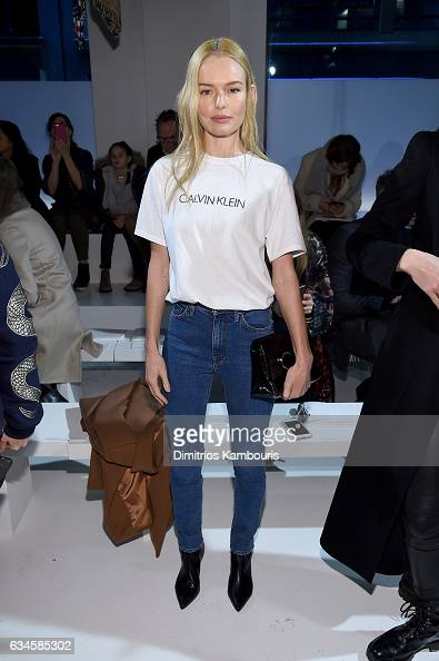 Actress Kate Bosworth attends the Calvin Klein Collection Front Row during New York Fashion Week on February 10 2017 in New York City