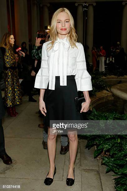 Actress Kate Bosworth attends the Carolina Herrera Fall 2016 fashion show during New York Fashion Week on February 15 2016 in New York City