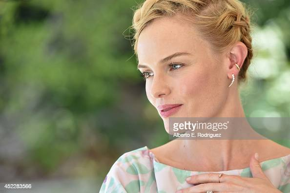 Actress Kate Bosworth attends the launch of Kate Bosworth Samantha Russ' Style Thief Fashion App at Chateau Marmont on July 16 2014 in Los Angeles...