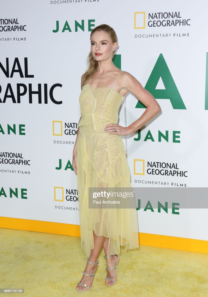 Actress Kate Bosworth attends the premiere of National Geographic documentary films' 'Jane' at the Hollywood Bowl on October 9, 2017 in Hollywood, California.