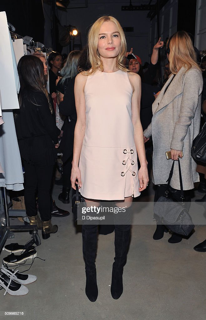 Actress, <a gi-track='captionPersonalityLinkClicked' href=/galleries/search?phrase=Kate+Bosworth&family=editorial&specificpeople=201616 ng-click='$event.stopPropagation()'>Kate Bosworth</a>, attends the Rebecca Minkoff Fall 2016 fashion show during New York Fashion Week: The Shows at The Gallery, Skylight at Clarkson Sq on February 13, 2016 in New York City.