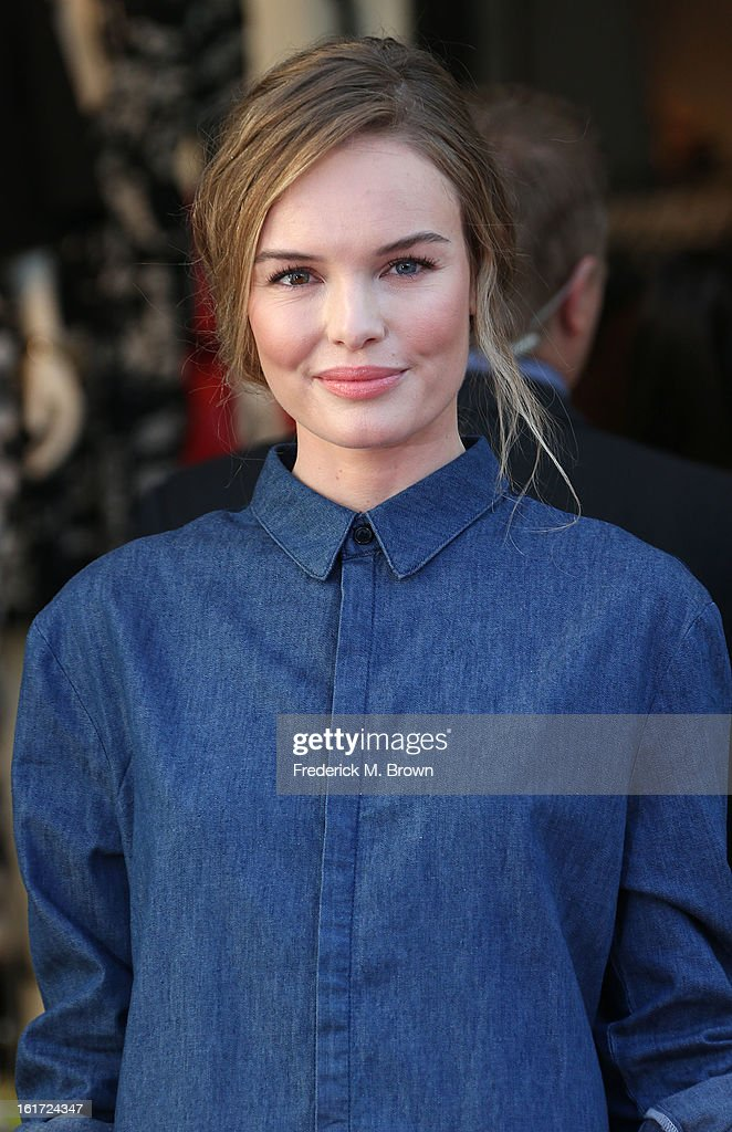Actress Kate Bosworth attends the Topshop Topman LA Grand Opening at The Grove on February 14, 2013 in Los Angeles, California.