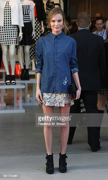 Actress Kate Bosworth attends the Topshop Topman LA Grand Opening at The Grove on February 14 2013 in Los Angeles California