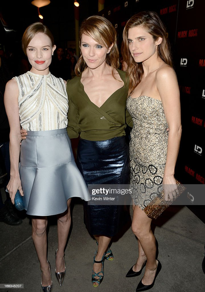 Actress <a gi-track='captionPersonalityLinkClicked' href=/galleries/search?phrase=Kate+Bosworth&family=editorial&specificpeople=201616 ng-click='$event.stopPropagation()'>Kate Bosworth</a>, director/producer <a gi-track='captionPersonalityLinkClicked' href=/galleries/search?phrase=Katie+Aselton&family=editorial&specificpeople=6457083 ng-click='$event.stopPropagation()'>Katie Aselton</a>, and actress <a gi-track='captionPersonalityLinkClicked' href=/galleries/search?phrase=Lake+Bell&family=editorial&specificpeople=209336 ng-click='$event.stopPropagation()'>Lake Bell</a> attend the screening of LD Entertainment's 'Black Rock' at ArcLight Hollywood on May 8, 2013 in Hollywood, California.