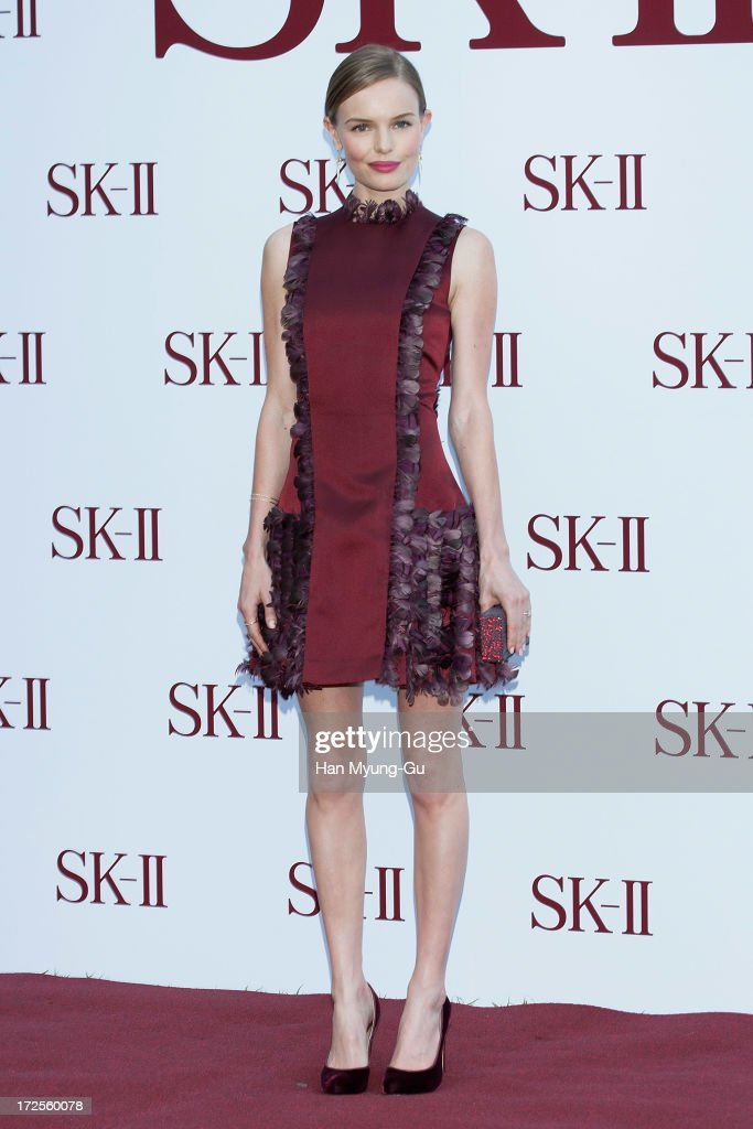 Actress Kate Bosworth poses for the photogrpahs during the SK-II Honoring The Spirit Of Discovery event at the Raum on July 3, 2013 in Seoul, South Korea.