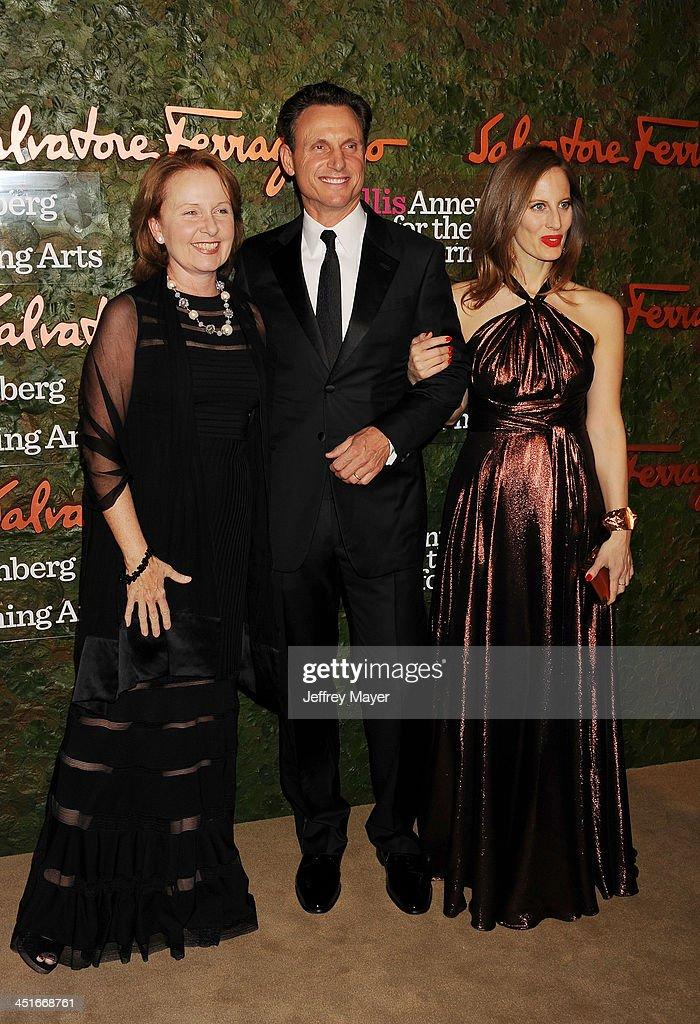 Actress Kate Burton actor Tony Goldwyn and artist Liz Goldwyn arrive at the Wallis Annenberg Center For The Performing Arts Inaugural Gala at Wallis...