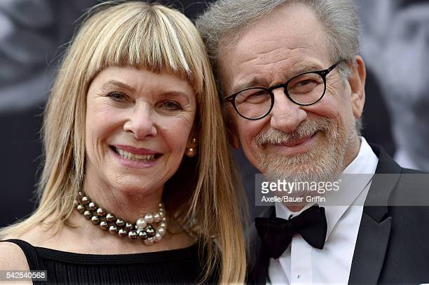 Actress Kate Capshaw and director Steven Spielberg arrive at the 44th AFI Life Achievement Awards Gala Tribute to John Williams at Dolby Theatre on...