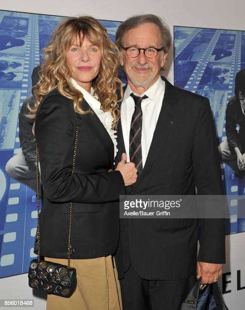 Actress Kate Capshaw and director Steven Spielberg arrive at the HBO Premiere of 'Spielberg' at Paramount Studios on September 26 2017 in Hollywood...