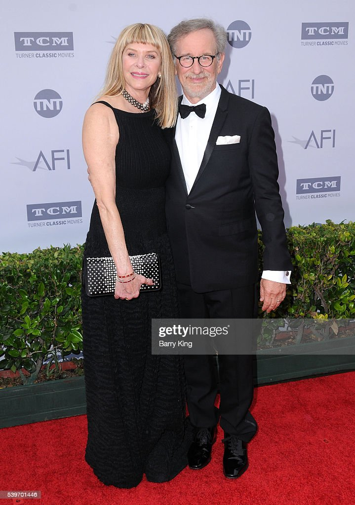 Actress <a gi-track='captionPersonalityLinkClicked' href=/galleries/search?phrase=Kate+Capshaw&family=editorial&specificpeople=204585 ng-click='$event.stopPropagation()'>Kate Capshaw</a> and director <a gi-track='captionPersonalityLinkClicked' href=/galleries/search?phrase=Steven+Spielberg&family=editorial&specificpeople=202022 ng-click='$event.stopPropagation()'>Steven Spielberg</a> attend American Film Institute's 44th Life Achievement Award Gala Tribute to John Williams at Dolby Theatre on June 9, 2016 in Hollywood, California.
