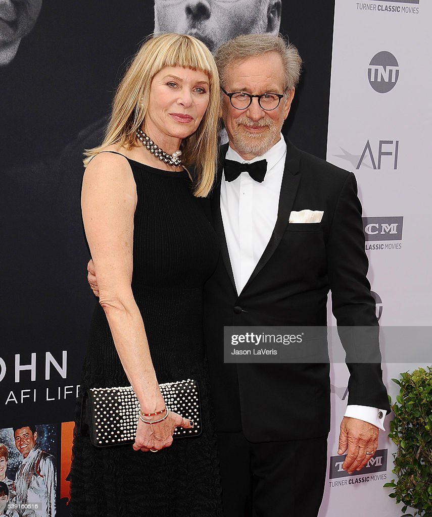 Actress <a gi-track='captionPersonalityLinkClicked' href=/galleries/search?phrase=Kate+Capshaw&family=editorial&specificpeople=204585 ng-click='$event.stopPropagation()'>Kate Capshaw</a> and director <a gi-track='captionPersonalityLinkClicked' href=/galleries/search?phrase=Steven+Spielberg&family=editorial&specificpeople=202022 ng-click='$event.stopPropagation()'>Steven Spielberg</a> attend the 44th AFI Life Achievement Awards gala tribute at Dolby Theatre on June 9, 2016 in Hollywood, California.