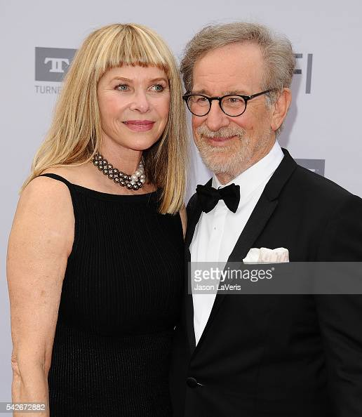 Actress Kate Capshaw and director Steven Spielberg attend the 44th AFI Life Achievement Awards gala tribute at Dolby Theatre on June 9 2016 in...