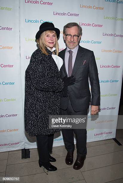 Actress Kate Capshaw and director/producer Steven Spielberg arrive at Lincoln Center's American Songbook Gala Honors Lorne Michaels at Lincoln Center...