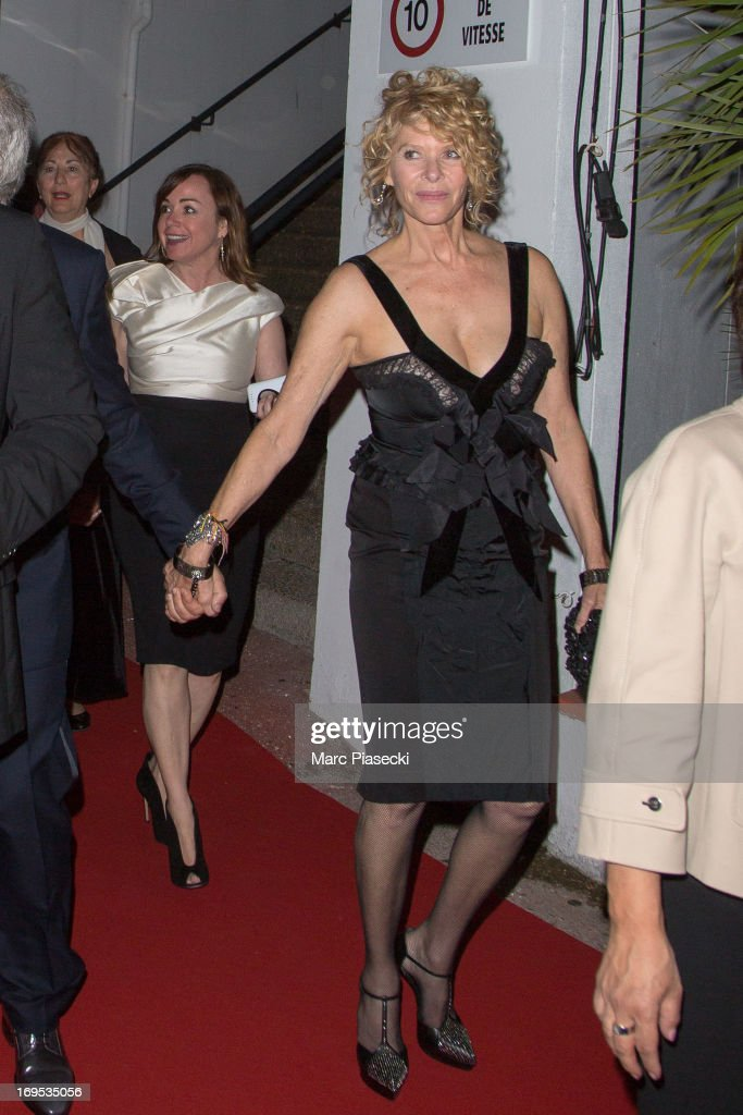 Actress Kate Capshaw and guest arrive at the 'Agora' dinner during the 66th Annual Cannes Film Festival on May 26, 2013 in Cannes, France.
