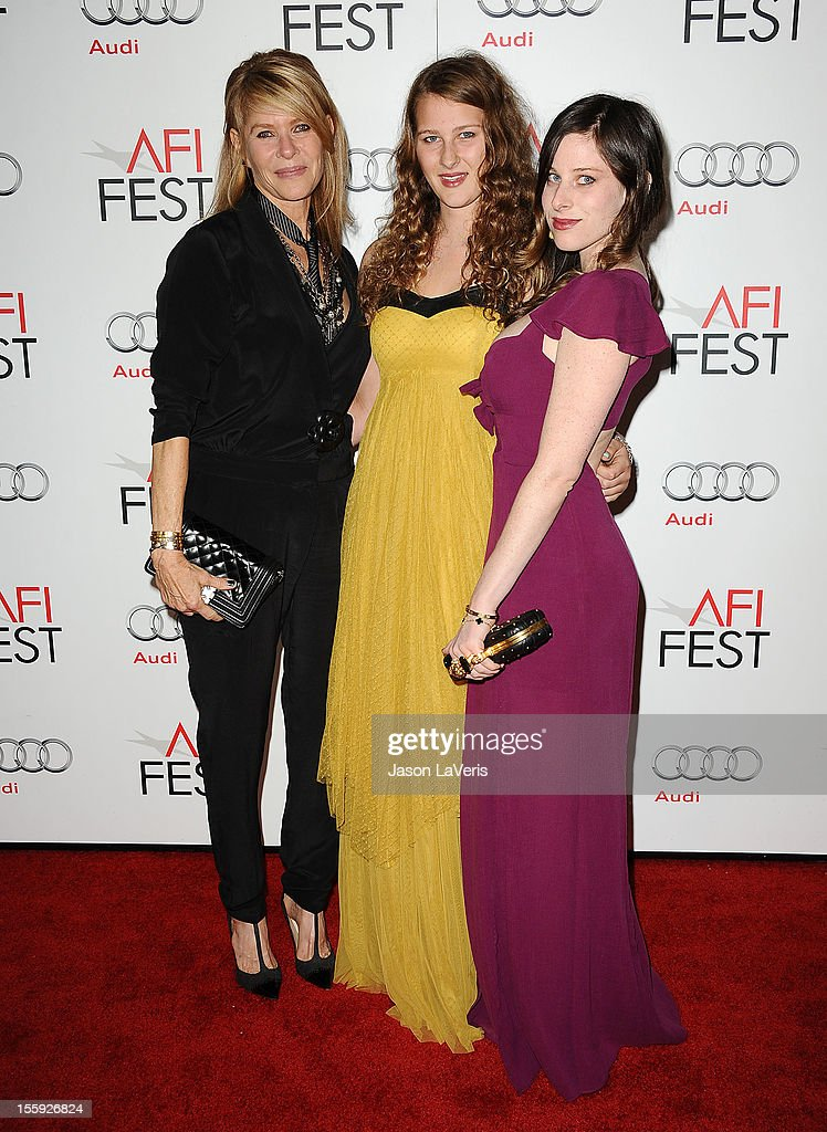 Actress <a gi-track='captionPersonalityLinkClicked' href=/galleries/search?phrase=Kate+Capshaw&family=editorial&specificpeople=204585 ng-click='$event.stopPropagation()'>Kate Capshaw</a>, Destry Allyn Spielberg and actress Sasha Spielberg attend the 2012 AFI Fest premiere of 'Lincoln' at Grauman's Chinese Theatre on November 8, 2012 in Hollywood, California.