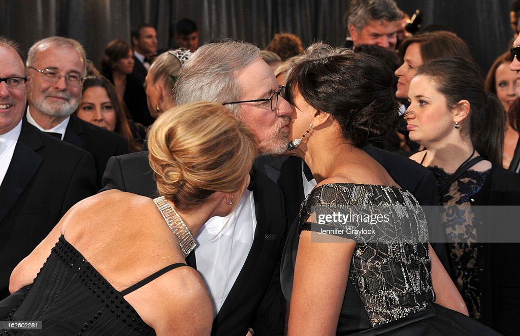 Actress Kate Capshaw, Director Steven Spielberg and Grace Hightower attend the 85th Annual Academy Awards held at the Hollywood & Highland Center on February 24, 2013 in Hollywood, California.