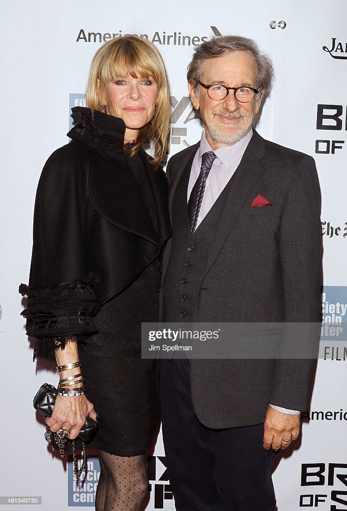 Actress Kate Capshaw director/producer Steven Spielberg attend the 53rd New York Film Festival premiere of 'Bridge Of Spies' at Alice Tully Hall...