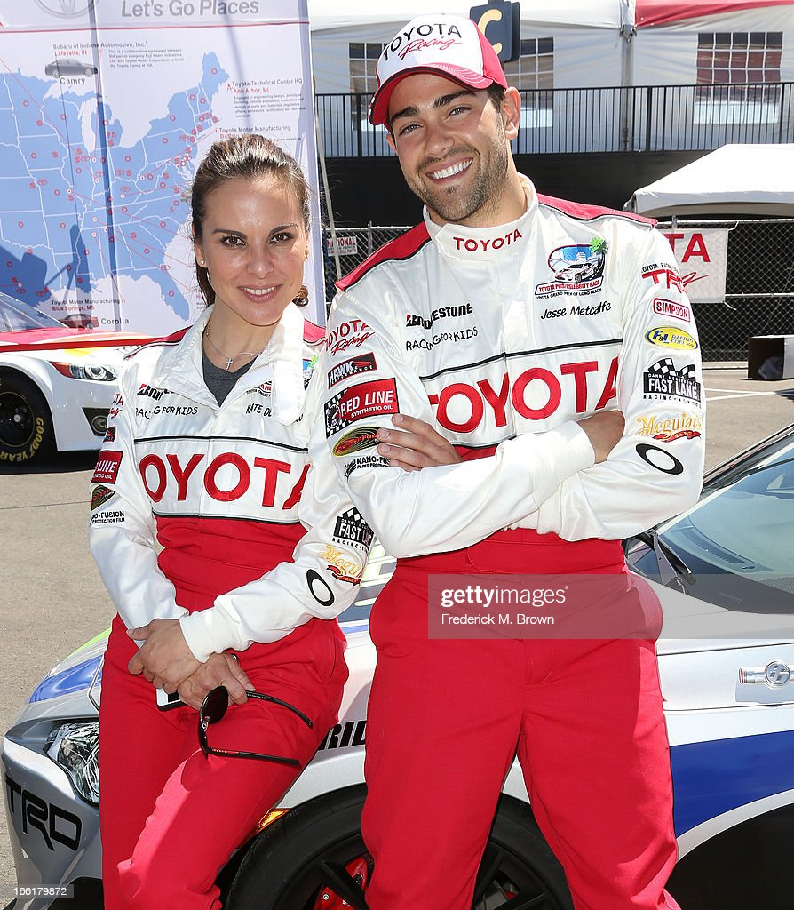 Actress Kate del Castillo (L) and actor Jesse Metcalfe attend the 37th Annual Toyota Pro/Celebrity Race-Practice Day on April 9, 2013 in Long Beach, California.