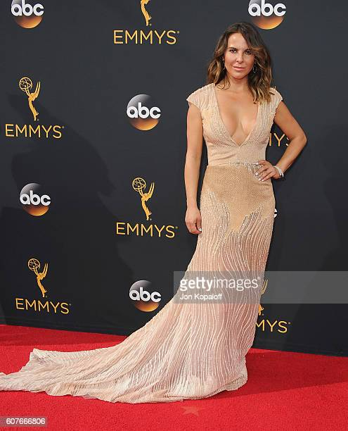 Actress Kate del Castillo arrives at the 68th Annual Primetime Emmy Awards at Microsoft Theater on September 18 2016 in Los Angeles California