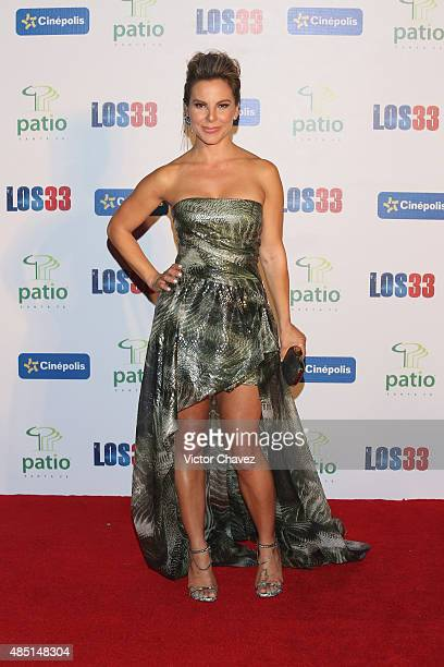 Actress Kate del Castillo attends 'Los 33' Mexico City premiere at Cinepolis Patio Santa Fe on August 24 2015 in Mexico City Mexico